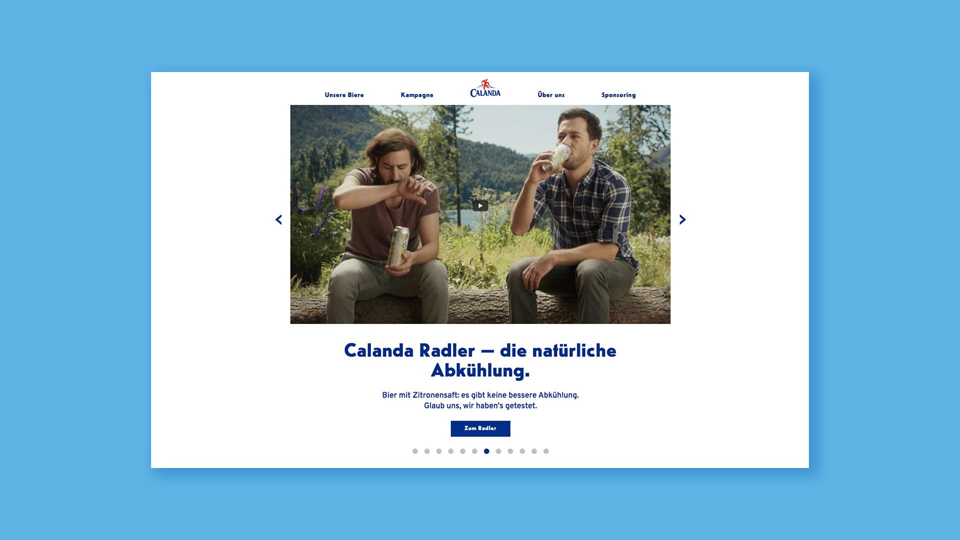 Calanda Website Redesign